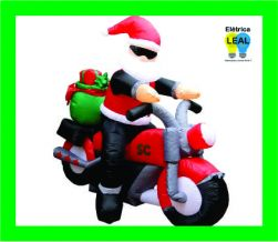 Papai Noel Moto Inflável 1,50m