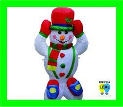 Boneco de Neve Inflável 1,20m