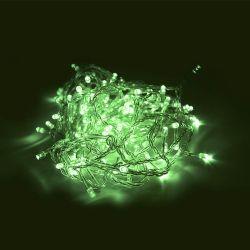 Led verde fixo transparente - 100leds