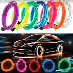 Fio Luz Neon Led Flexivel 5 Metros El Wire 12v