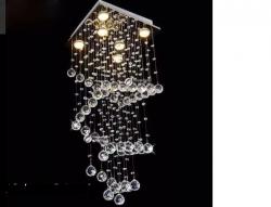 Plafon Lustre Pendente Cristal Legitimo+lampada Led Bivolt