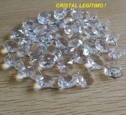Lustre Cristal Pendente 1,5m Plafon+lampadas Leds Bivol