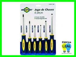 Jogo de Chaves (6 peças)  Ponta Magnetizada