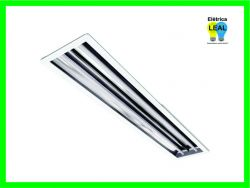 Luminaria Refletora Embutir 2X32/40W